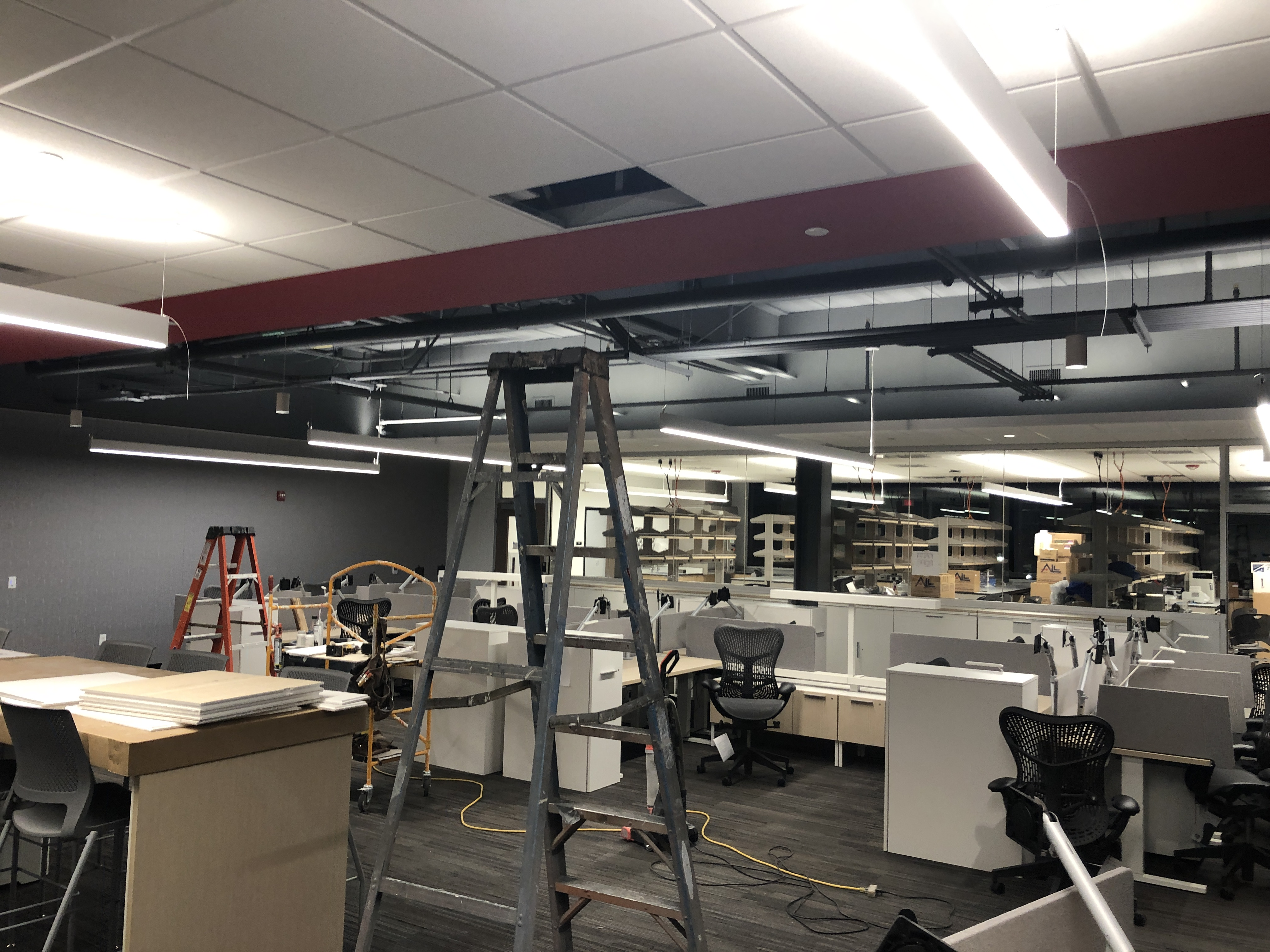 Open Office area in new Wooster Science Building
