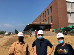 Dr. Strange, Dr. Michel and Greenhouse Manager Jim Hacker
