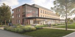 Artist rendering of new Science Building