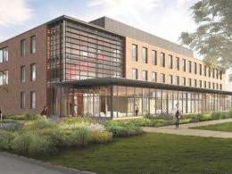 Artist's rendering of future science building